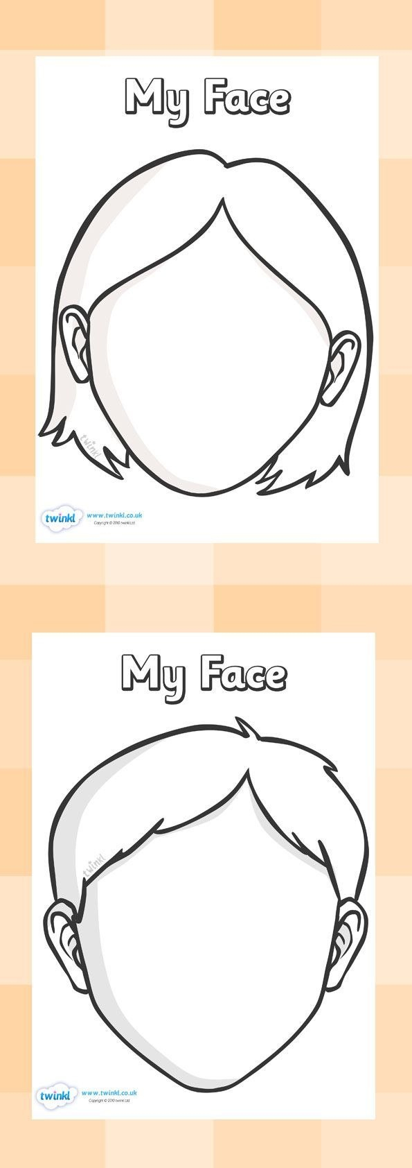 Blank Faces Templates Free Printables  Children Can Draw Things Throughout Blank Face Template Preschool