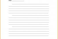 Blank Friendly Letter Template  Design Templates throughout Blank Letter Writing Template For Kids