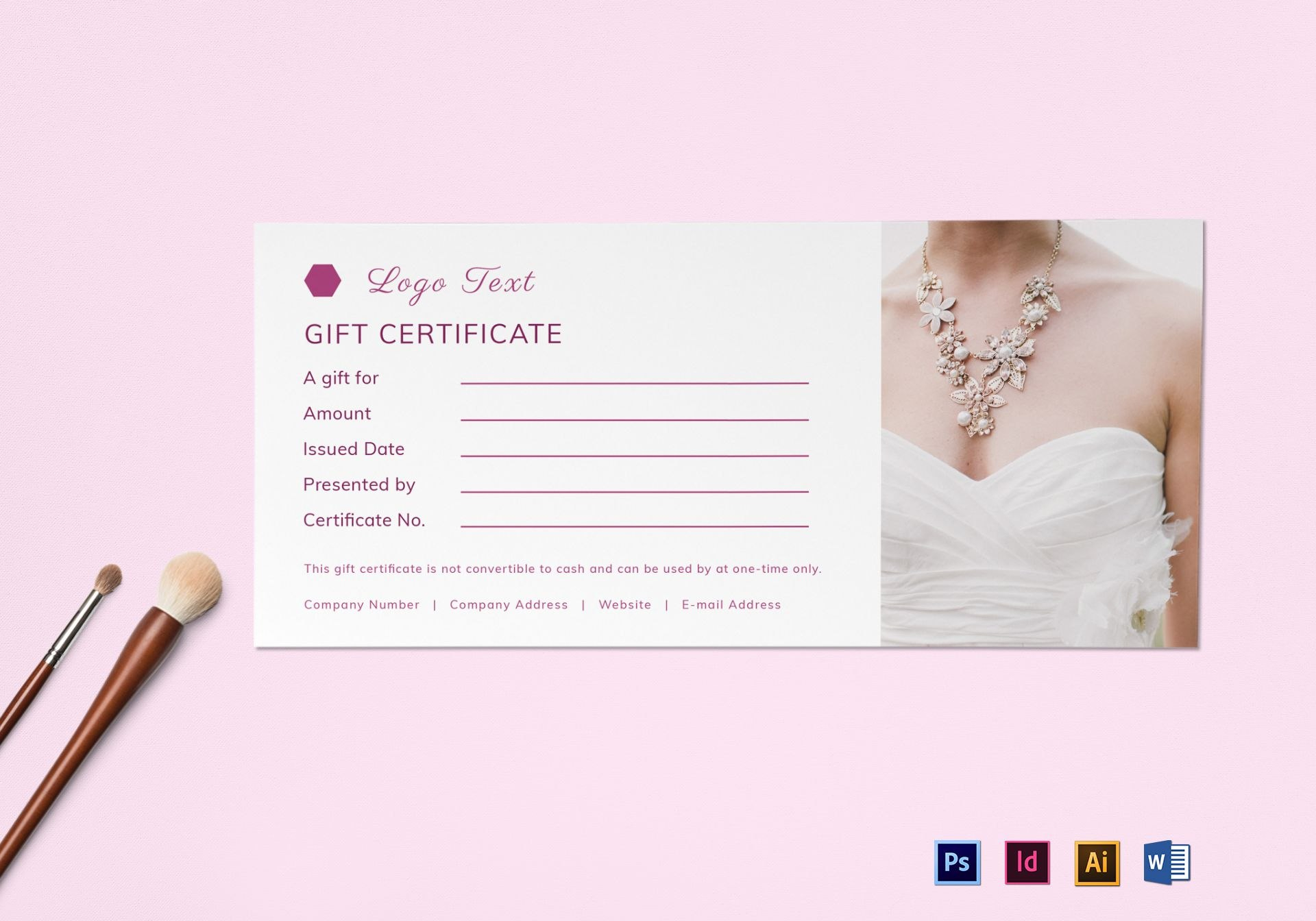 Blank Gift Certificate Design Template In Psd Word Illustrator Pertaining To Gift Certificate Template Indesign