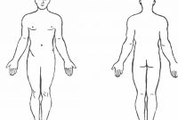 Blank Human Body Diagram  Blank Human Body Diagram Human Anatomy Intended For Blank Body Map Template
