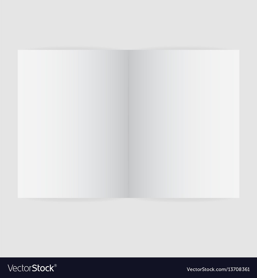 Blank Magazine Spread Template Royalty Free Vector Image Regarding Blank Magazine Spread Template