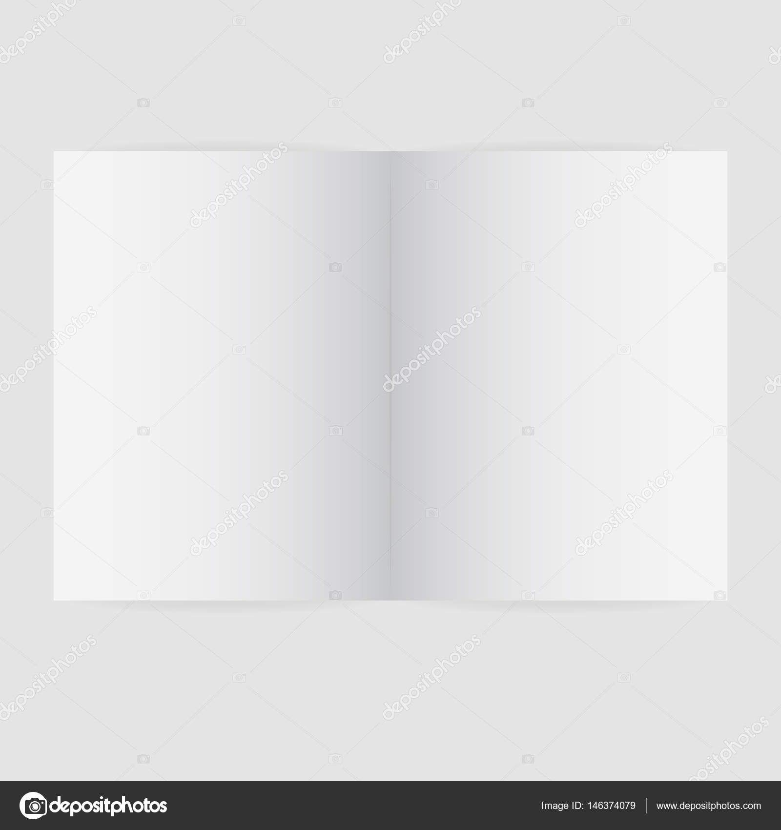 Blank Magazine Spread Template Vector Illustration — Stock Vector With Regard To Blank Magazine Spread Template