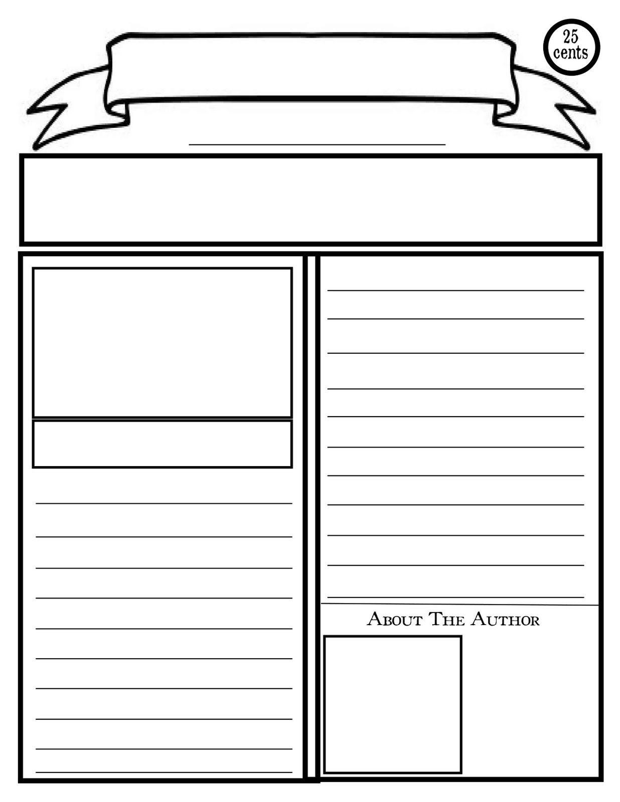 Blank Newspaper Template For Kids Printable  Homework Help For News Report Template