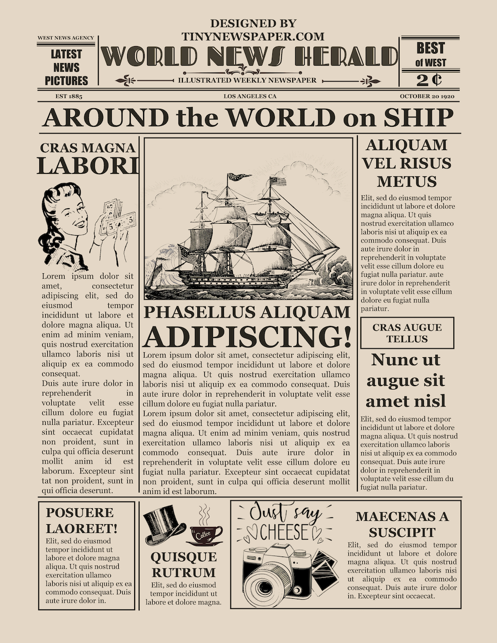 Blank Old Newspaper Template Pertaining To Old Blank Newspaper Template