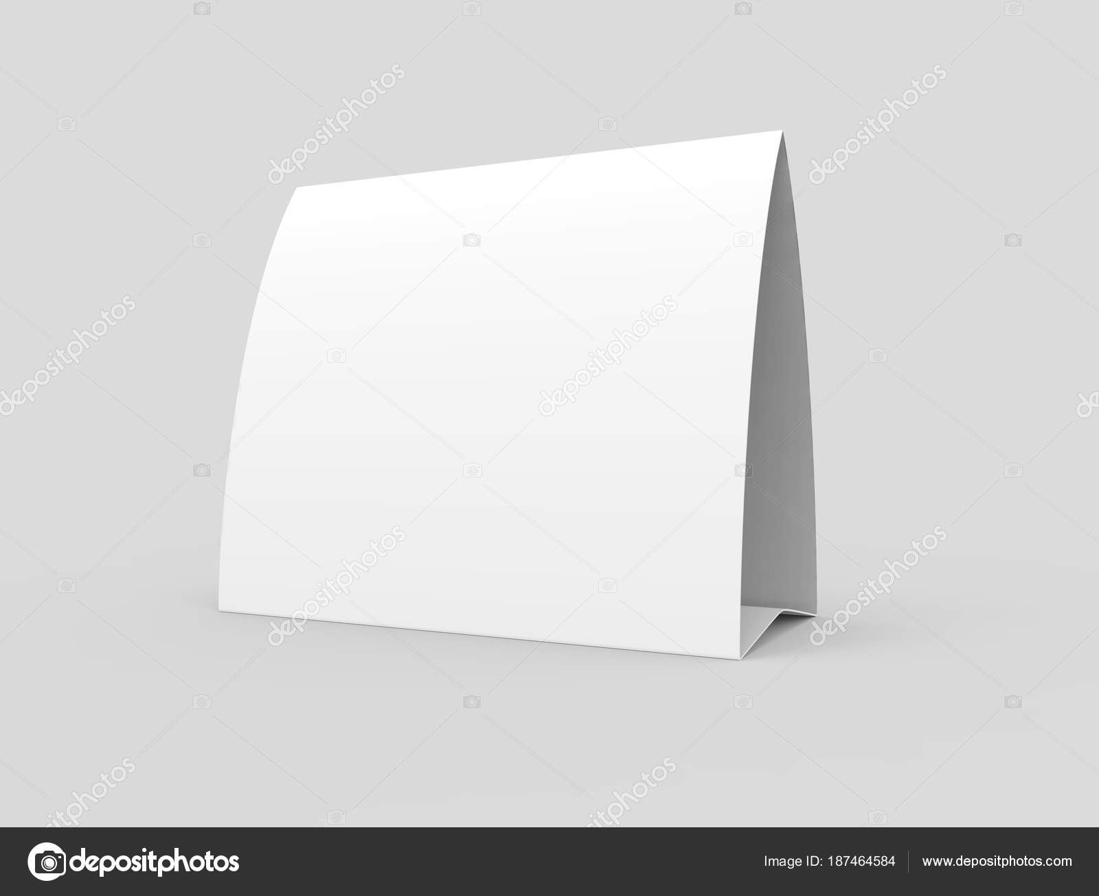 Blank Paper Tent Template White Tent Card Empty Space Render — Stock Throughout Blank Tent Card Template