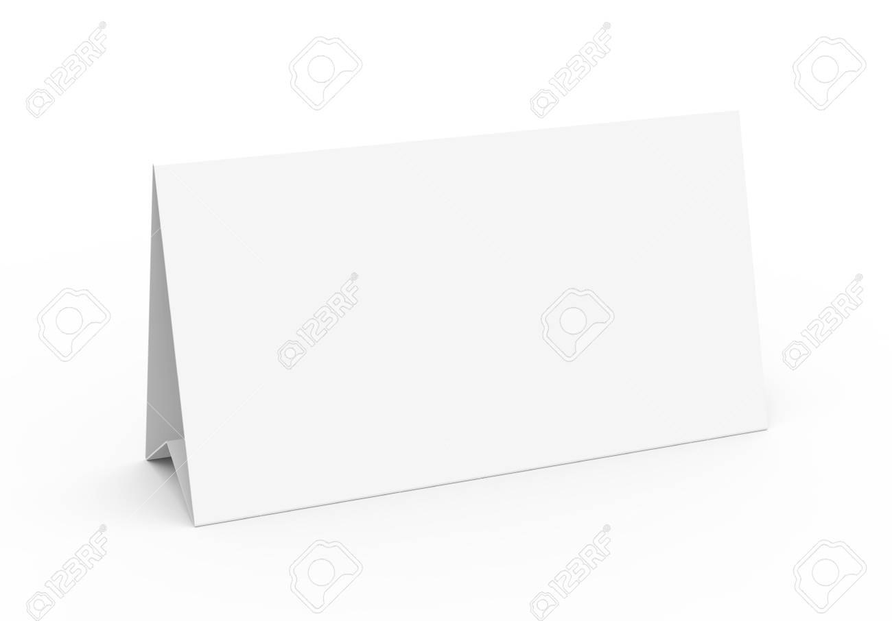 Blank Paper Tent Template White Tent Card With Empty Space In Regarding Blank Tent Card Template