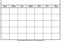 Blank Printable Calendar  Luxe Calendar inside Full Page Blank Calendar Template