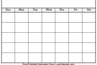 Blank Printable Calendar  Luxe Calendar within Full Page Blank Calendar Template
