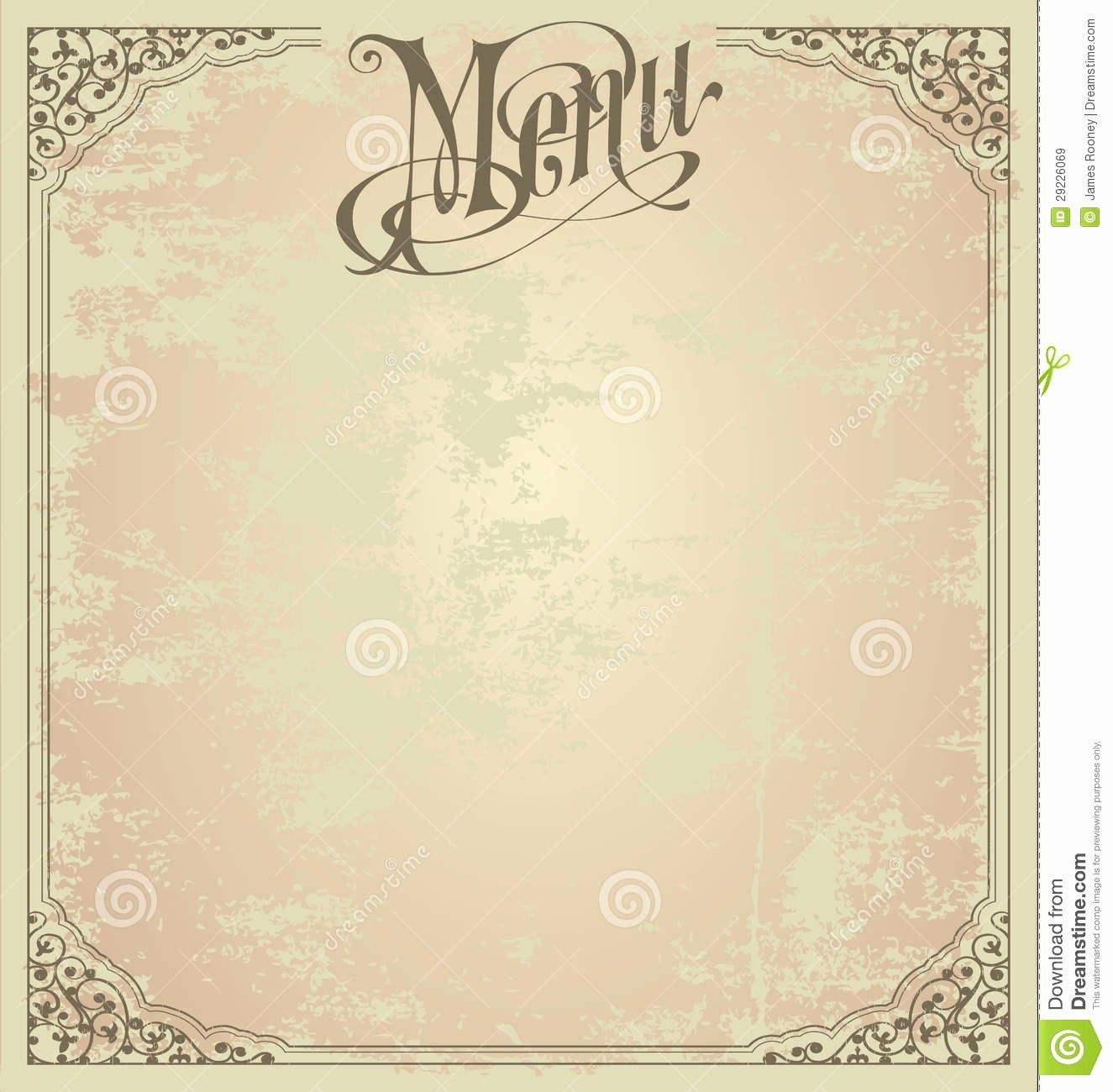 Blank Restaurant Menu Template Free Printable Templates New Throughout Blank Restaurant Menu Template