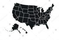 Blank Similar Usa Map Isolated On Stockvektorgrafik Lizenzfrei in United States Map Template Blank