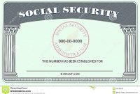 Blank Social Security Card Template  Hardbreakersthemovie with regard to Blank Social Security Card Template Download
