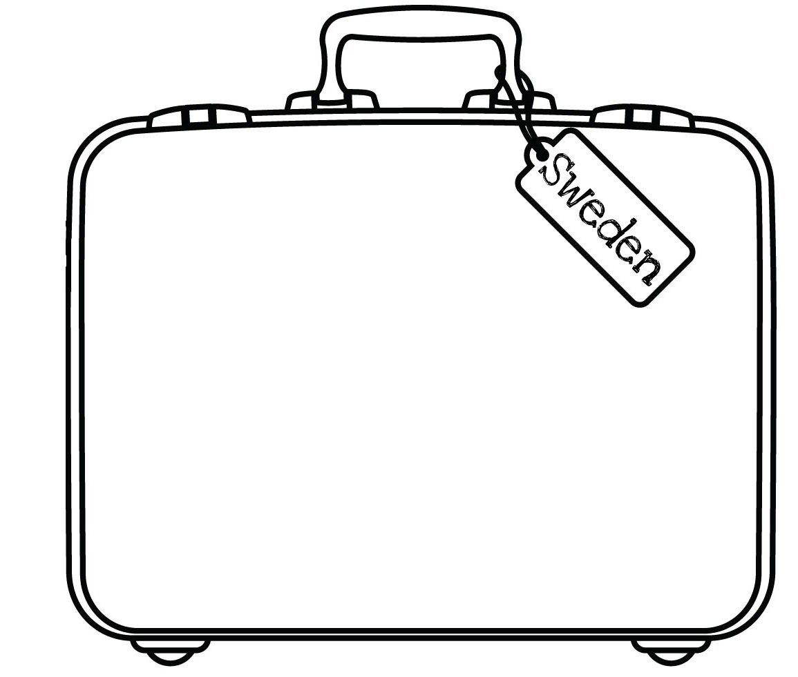 Blank Suitcase Template  Cheapweddingdeco   Clipartimage With Regard To Blank Suitcase Template