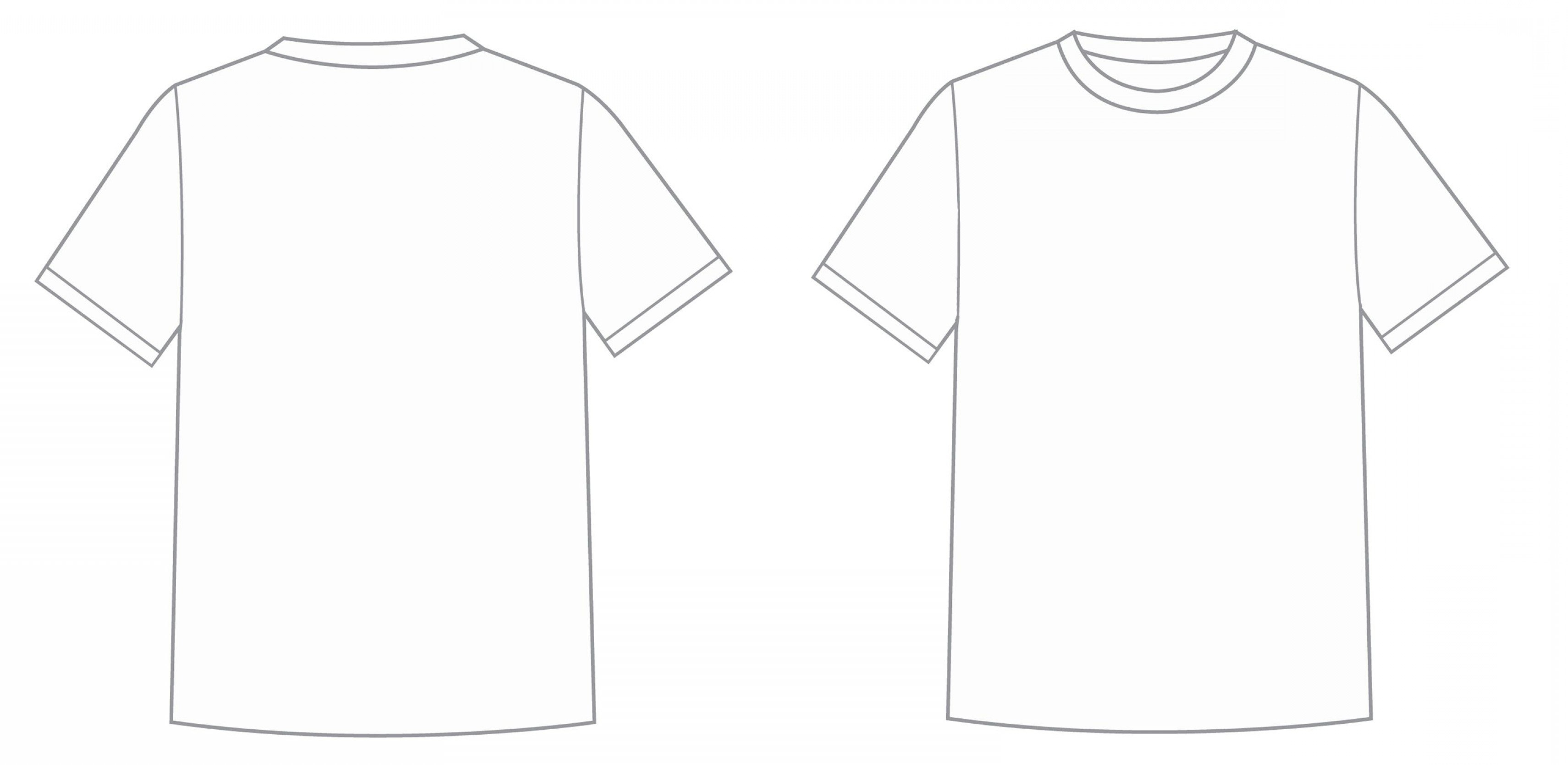 Blank Tee Shirt Template Luxury Blank T Shirt Outline Template Inside Blank T Shirt Outline Template
