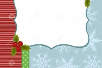 Blank Template For Christmas Greetings Card Stock Vector inside Blank Christmas Card Templates Free