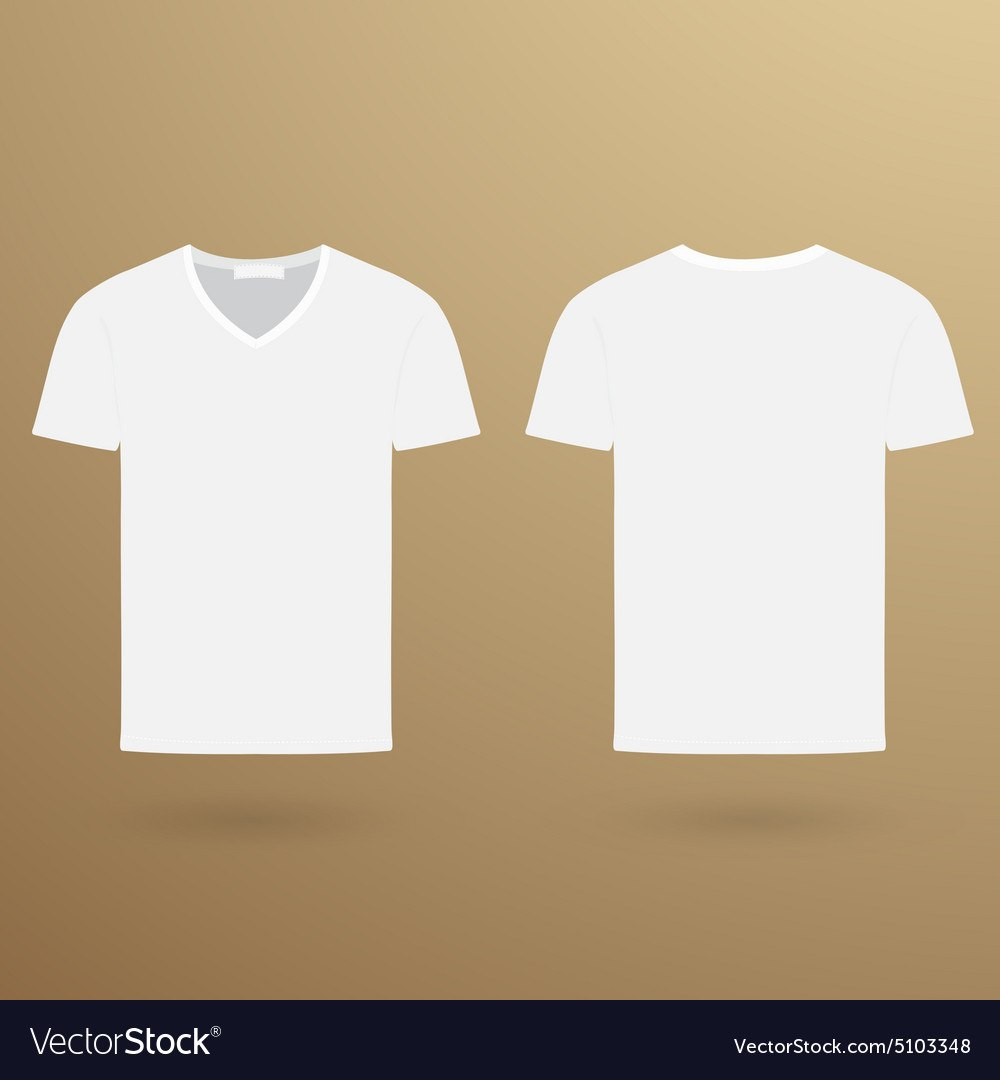 Blank V Tshirt Template Front And Back Royalty Free Vector For Blank V Neck T Shirt Template