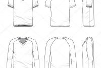 Blank Vneck Tshirt And Tee — Stock Vector © Aunaauna in Blank V Neck T Shirt Template