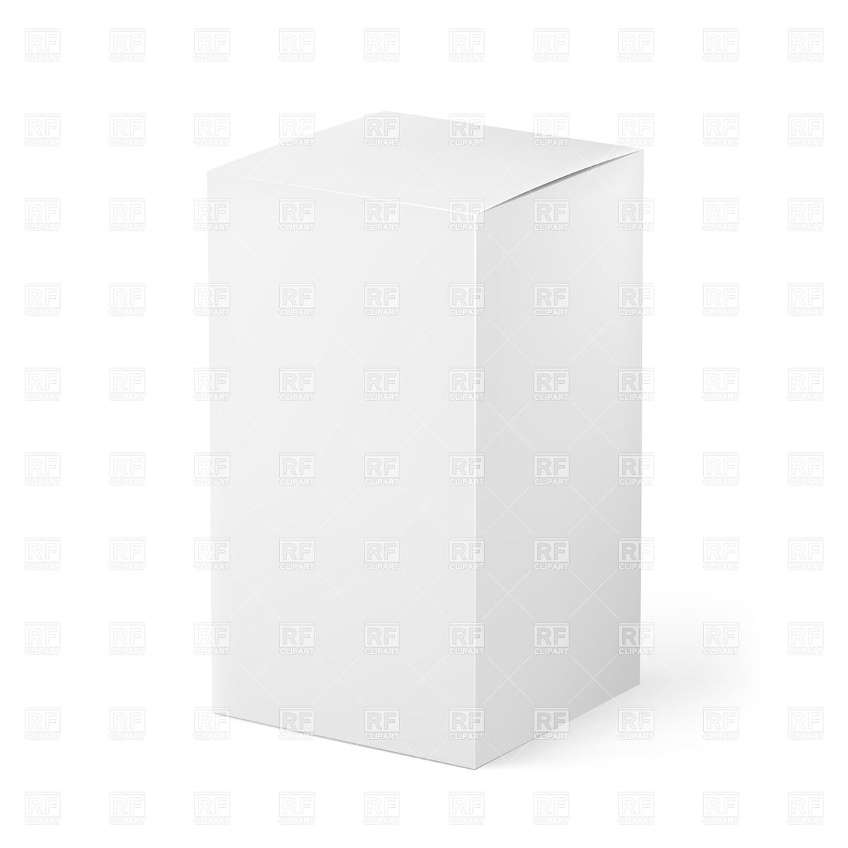 Blank White Box  Package Template Vector Image Of Objects © Dvarg In Blank Packaging Templates