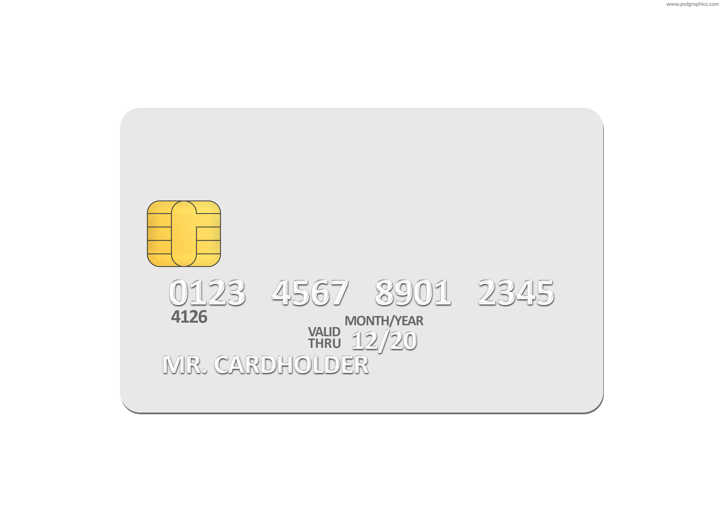 Blank White Credit Card Psd Template  Psdgraphics Regarding Credit Card Template For Kids