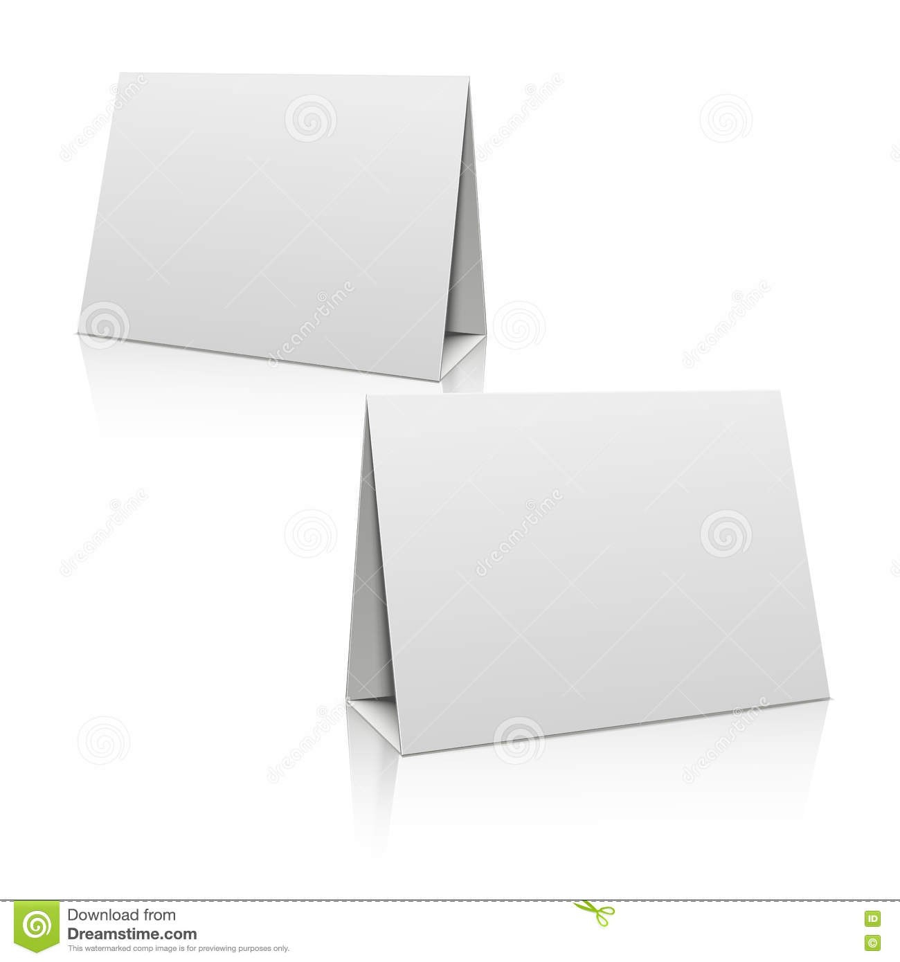 Blank White Paper Stand Table Holder Card D Vector Design Template For Card Stand Template
