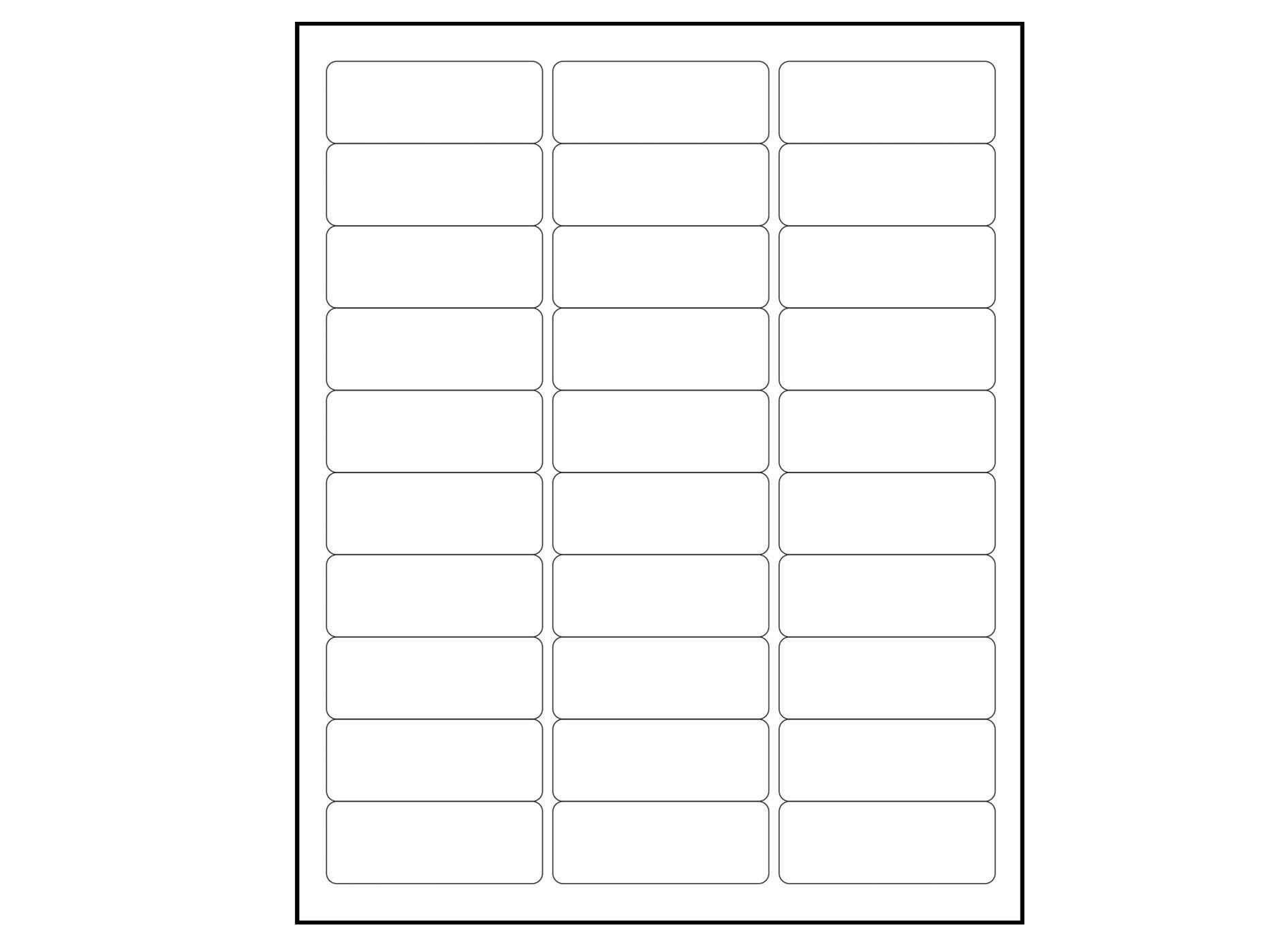Blank  X    Address Labels Downloadable Label Template Via Regarding 1 X 2 5 8 Label Template
