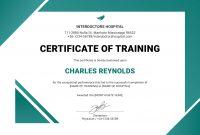 Blankcertificateoftrainingtemplatedocpdfformattedword pertaining to Template For Training Certificate