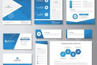Blue Business Brochure Flyer Leaflet Presentation Card Template with regard to Advertising Cards Templates
