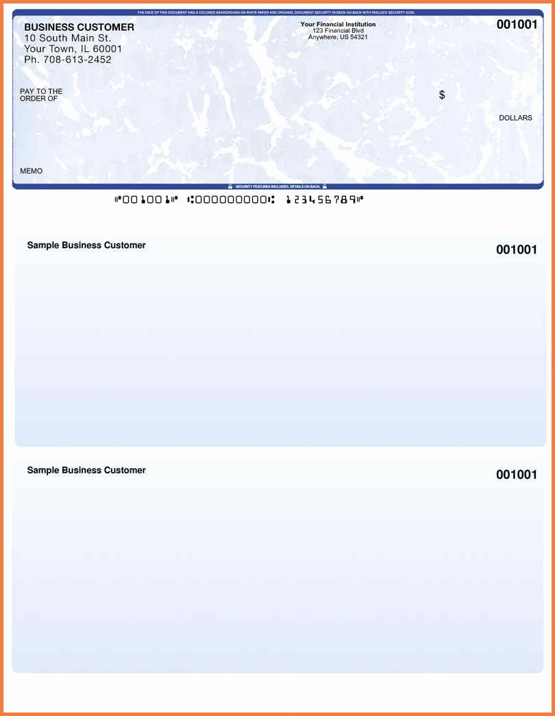 Blue Check Psd Template For Blank Business Check Template