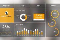 Blur Dashboard Slide For Powerpoint  Slidemodel intended for Free Powerpoint Dashboard Template