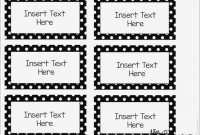 Book Bin Labels Printable Editable Word Wall Templates  – Label inside Blank Word Wall Template Free