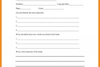 Book Report Template Middle School  Types Of Letter in Middle School Book Report Template