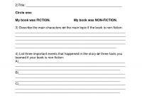 Book Report Template  Summer Book Report Th Th Grade  Download regarding Story Report Template