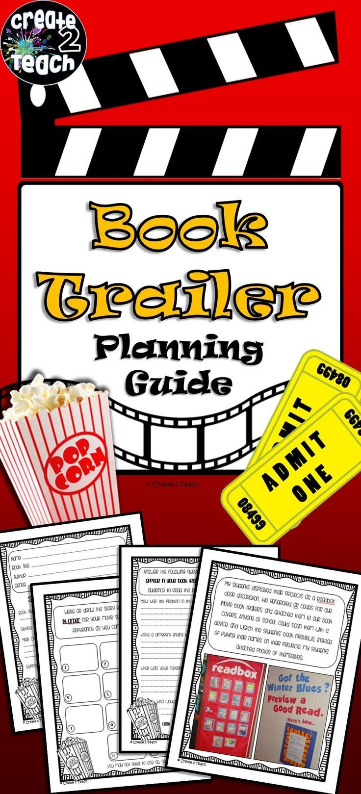 Book Trailer Storyboard Template And Graphic Organizer  Rd Grade Throughout Story Skeleton Book Report Template