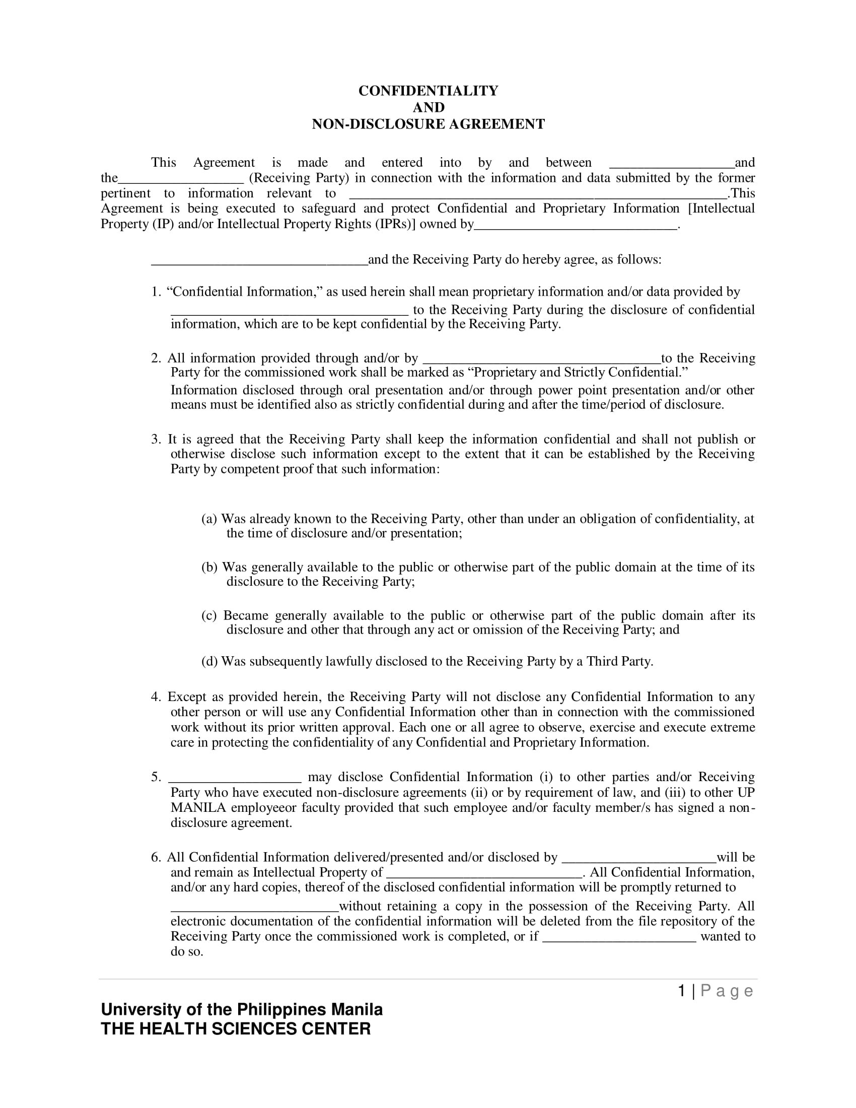 Bookkeeper Confidentiality Agreement Examples  Doc Pdf  Examples With Regard To Accountant Confidentiality Agreement Template