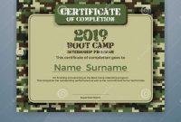 Boot Camp Internship Program Certificate Template Stock Vector With Boot Camp Certificate Template