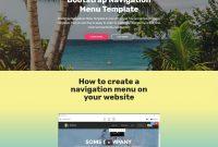 Bootstrap Navigation Menu Template with Drop Down Menu Templates Free Download