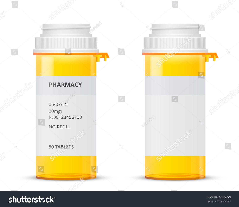 Bottle Prescription Pill Labels Template Vector Stock Vector Throughout Prescription Bottle Label Template
