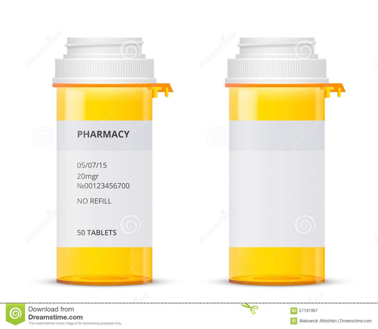 Bottle Stock Vector Illustration Of Pill Open Dosage In Pill Bottle Label Template