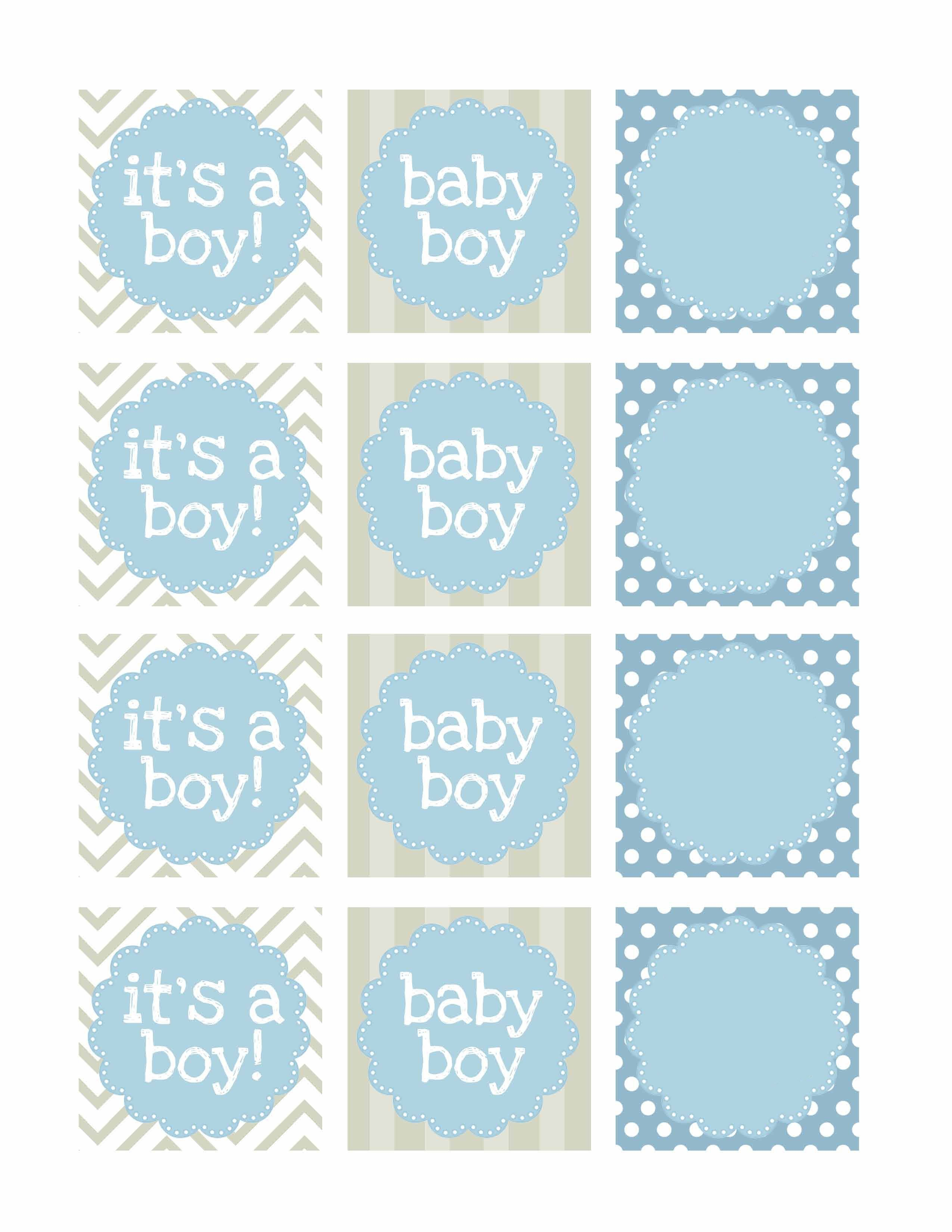Boy Baby Shower Free Printables  Baby Shower  Baby Shower Labels Inside Baby Shower Label Template For Favors