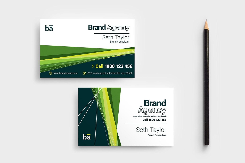 Brand Agency Business Card Template  Psd Ai  Vector  Brandpacks Inside Call Card Templates