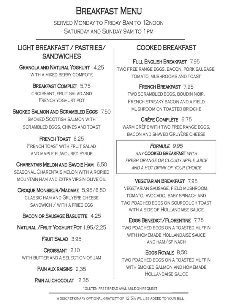 Breakfast Menu Template Free Templates In Pdf Word Excel Within Breakfast Menu Template Word
