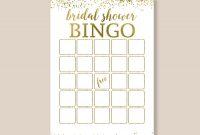 Bridal Bingo Editable Pdf Template Bridal Shower Bingo  Etsy for Blank Bingo Template Pdf