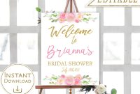 Bridal Shower Welcome Sign Template Astounding Ideas Free Banner with regard to Free Bridal Shower Banner Template