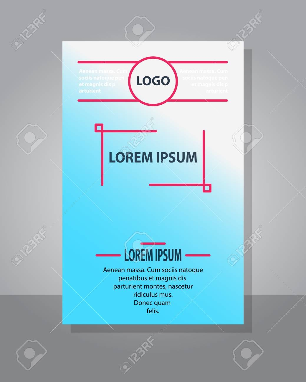 Brochure Cover Design Abstract Roll Up Modern Poster Magazine Within Fancy Brochure Templates
