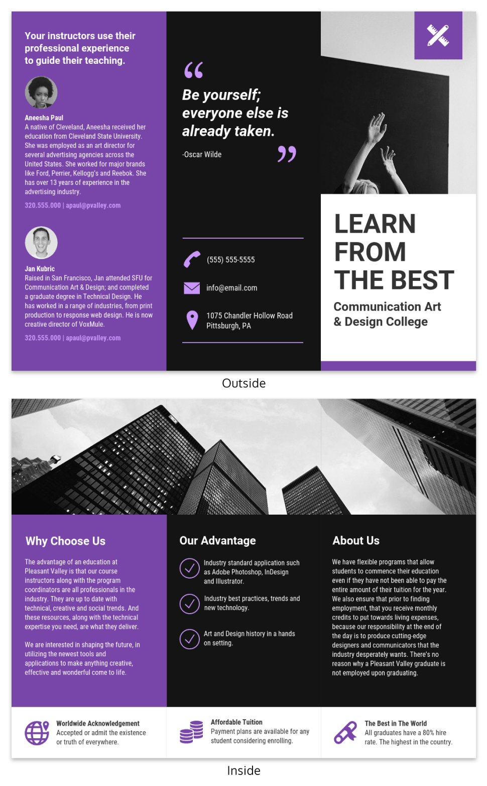 Brochure Ideas To Inspire Your Next Design Project  Venngage For Membership Brochure Template