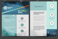Brochure Or Flyer Design Template In Letter Size Royalty Free pertaining to Letter Size Brochure Template
