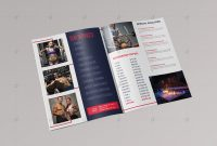 Brochure Template  Vsual regarding Membership Brochure Template