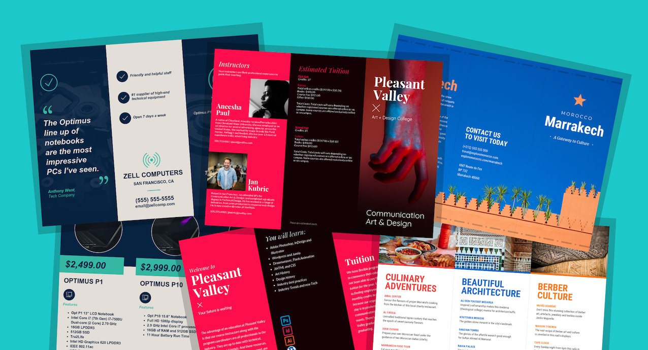 Brochure Templates And Design Tips To Inform Your Audience And With Training Brochure Template