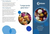 Brochures  Office pertaining to Free Template For Brochure Microsoft Office