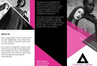 Brochures  Office within One Sided Brochure Template