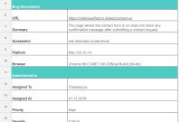 Bug Report Template Options That Will Skyrocket Your Qa Process regarding Bug Report Template Xls